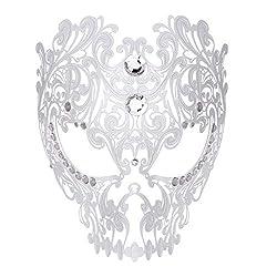 White Devil Full Face Skull Masquerade Mask