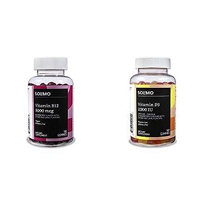 Amazon Brand - Solimo Vitamin B12 3000mcg Gummies