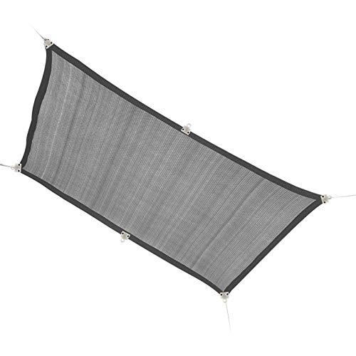 GHHZZQ Gris Marquesina Al Aire Libre A Prueba se Viento Respirable Excelente Sombra para El Sol 90% se Bloqueo UV con Cuerda Libre, Rectángulo, Personalizable (Color : Gray, Size : 4x6m)