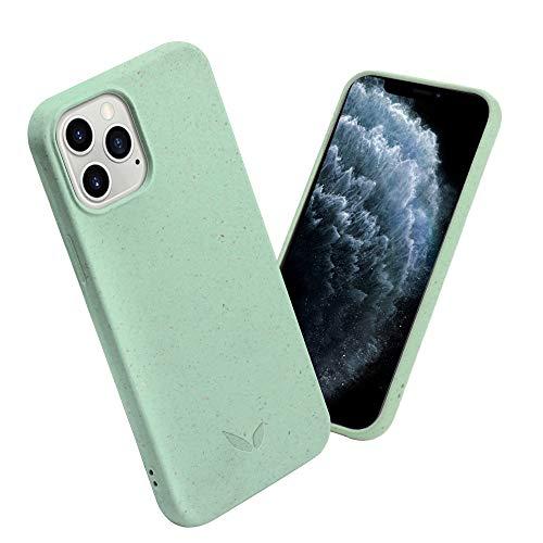 CWA Design - Bio Handyhülle Hülle kompatibel mit iPhone 12/12Pro - umweltfre&lich, nachhaltig, plastikfrei und recyclebar - Mint