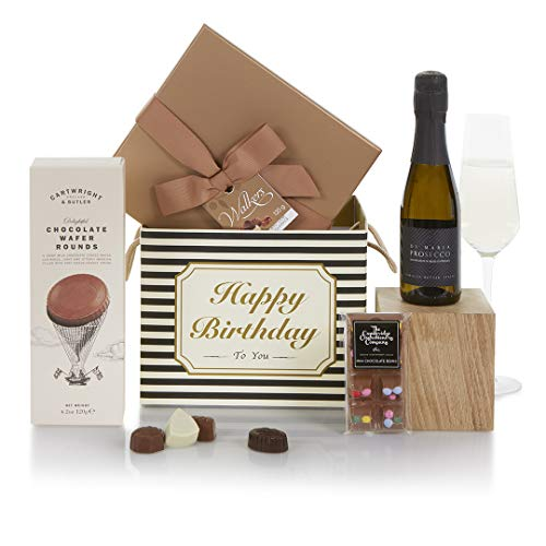 The Chocolate and Prosecco Birthday Hamper - Birthday Prosecco Gift Hamper For Her - Birthday Hampers and Gift Baskets