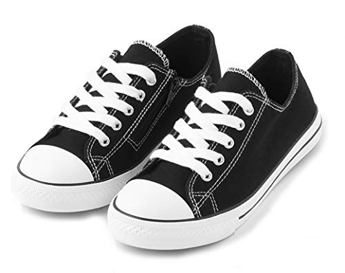 TEX - Zapatillas De Lona para Niña, Negro Neutro, 36 EU