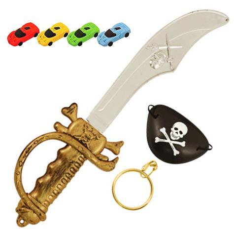 PIRATE SWORD /& GUN SET Fancy Dress Cutlass Eye Patch Party Toy Captain Jack Kids