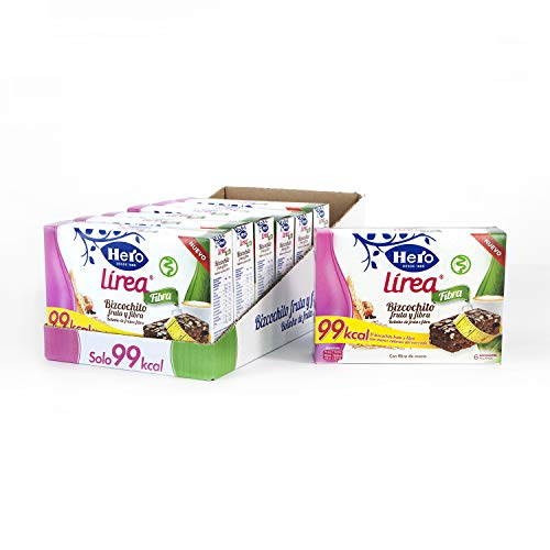 Hero Línea Bizcochito de Fruta y Fibra de Avena 99kcal Pack 8 cajas de 6x32 g