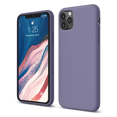 elago iPhone 11 Pro Max Hülle Silikon Case Kompatibel mit iPhone 11 Pro Max Handyhülle - Hochwertiges Silikon, Stoßfest, Voller Schutz [3-Layer Struktur], Erhöhte Kante für Bildschirm (Lavendelgrau)