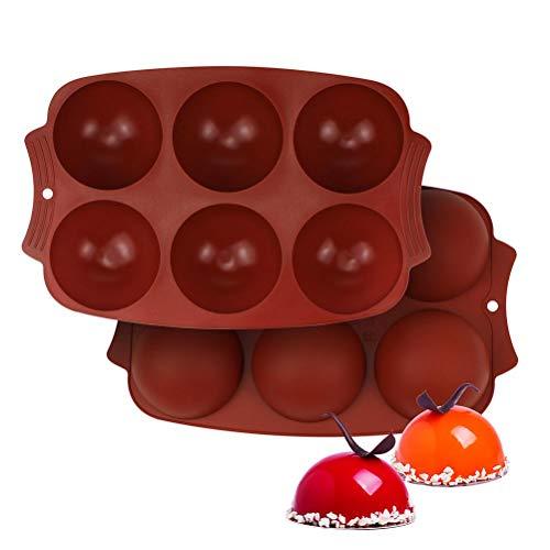 Molde de Silicona con 6 Agujeros, Molde hemisferio para Hornear de Silicona para Chocolate, Pasteles, gelatina, pudín, Dulces, moldes para jabón, Molde para Hornear de Silicona, moldes para