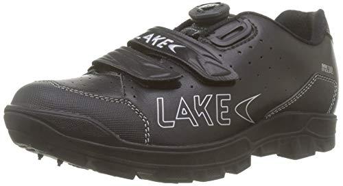 Lake MX168 Enduro Fahrradschuh Unisex - Erwachsene, Schwarz/Silber, 40