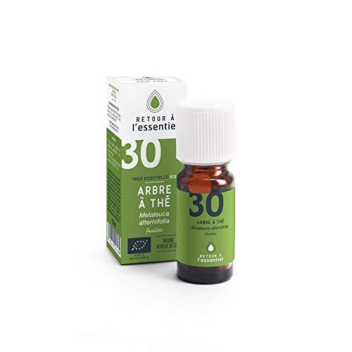 Huile essentielle de Tea tree bio - Arbre à thé - 100% pure et naturelle HEBBD - 10 ml - Retour à l'essentiel