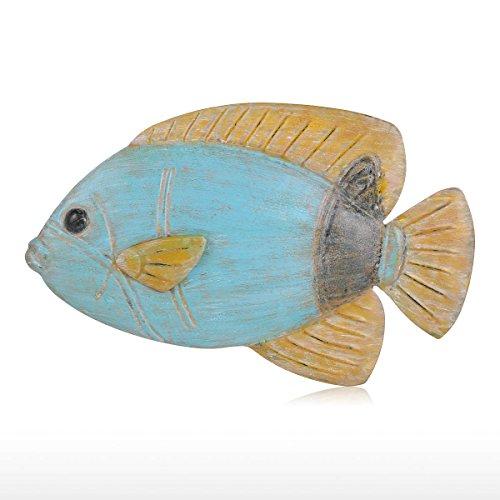 Tooarts Muro di Pesce Appendere 4 Parete di Ferro Decorazione Creativo Ornamento Artigianale Muro di Parete Muro Appeso Vita Marina