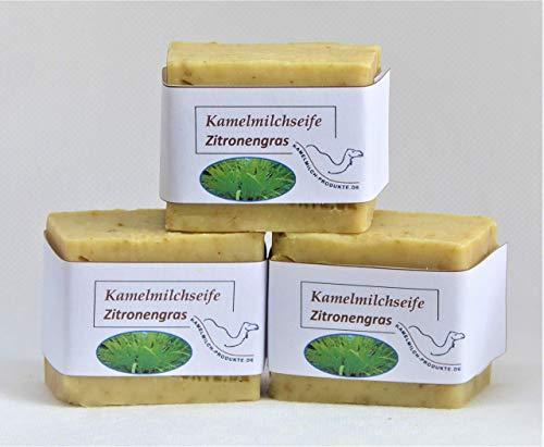 Handgemachte Kamelmilchseife, Naturseife, Zitronengras