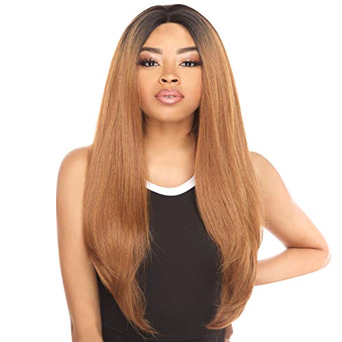 The Stylist Synthetic Lace Front Wig Swiss Lace Silk Top Swiss Goddess (1B)