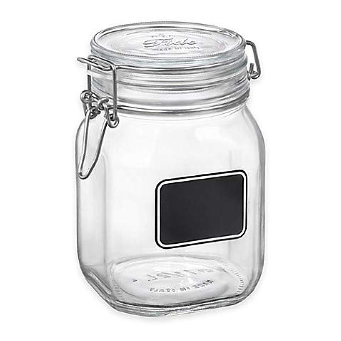 脚本微視的取り除く(1000ml) - Bormioli Rocco Fido Square Chalk 1000ml Label Jar