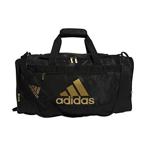 adidas Defender III Medium Duffel Bag, Black/Gold, One Size