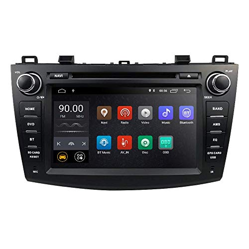 Car Navigator Car Stereo Car Reproductor de DVD Android 10 OS 8 pulgadas Pantalla táctil capacitiva Soporte Mirror-link Bluetooth WiFi 4G USB DVR SWC RDS Especial para Mazda 3 2010 2011 2012 2013