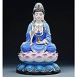 Decoración de la estatua de Buda Acabado de mármol meditando Buda Estatua Estatuilla Sentado Buda Estatua Decoración para el hogar Coleccionables y estatuillas Decoración del hogar de la estatua de Bu