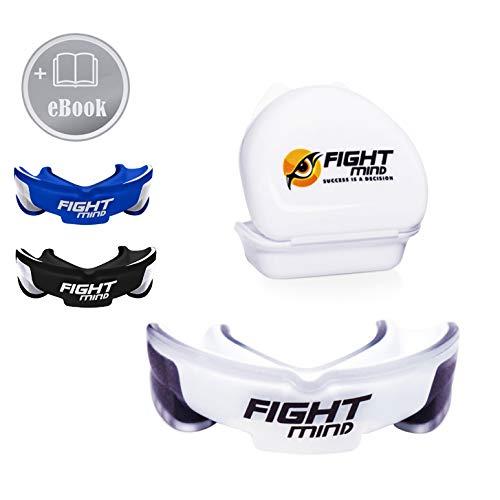Fight Mind Premium Mundschutz - Perfekter Zahnschutz für Kampfsport, MMA, Krav MAGA, Hockey, Football - Mit E-Book - In praktischer Box
