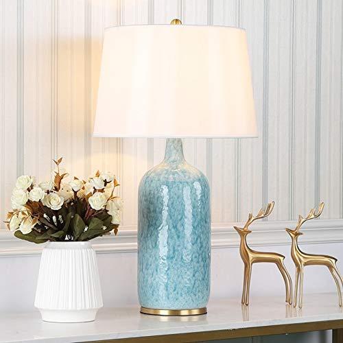 Lámparas de Mesa y mesilla de Noche Lámpara de Mesa Decorativa de la Sala de Estar del Dormitorio Creativo de cerámica Minimalista Moderno Moderno
