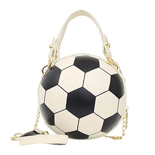 Mdsfe Personality female leather pink basketball bag 2020 new ball purses for teenagers women shoulder bags crossbody chain hand bags - Basketball White,a4