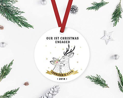 Custome Tree Oranment Weihnachtsbaum Ornament Korantine 2020 First Christmas Engaged, Verlobungsornament, Verlobung, frisch verlobte Verlobung Ornament, verlobtes Paar Weihnachten Ornament