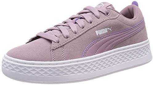 Puma Damen Smash Platform SD Sneaker, Violett (Elderberry-Puma White 09), 38.5 EU