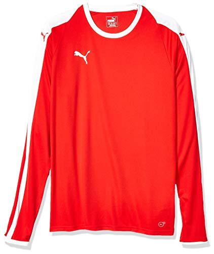 PUMA Men's Liga Long Sleeve Jersey, Redpuma White, M