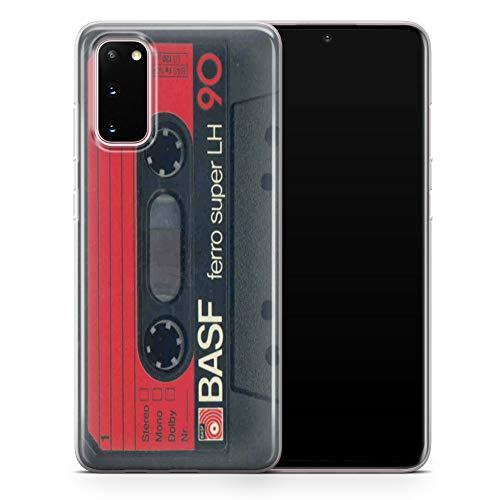 Carcasa para Samsung Galaxy S20 Plus, diseño de cinta de cassette vintage de los años 90, color transparente