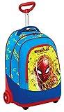 Seven Big Trolley Marvel Spider-Man 30 Lt 2in1 Zaino con Spallacci a Scomparsa, Scuola & Viaggio, Blu e Rosso, 48 cm