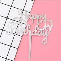 ケーキトッパー 誕生日 ケーキ 飾り ピック ハッピーバースデー 10cm アクリル製