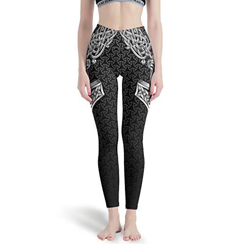 FFanClassic Leggings deportivos VIKING Hammer -Mirror para mujer Athletic botín – Pantalones de entrenamiento para Pilates Gym blanco 3XL