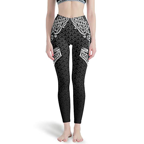 Women's Yoga Pants Viking Celtic Thor Hammer Printed Workout Custom Sport Pants Pilates Apparel Leggings White l