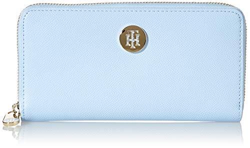 Tommy Hilfiger Honey, Accesorio Billetera de Viaje para Mujer, Azul Dulce, Talla única