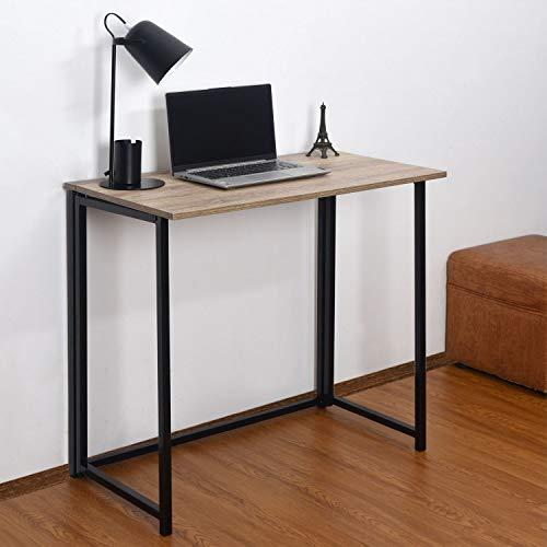 Direct Online Houseware Scrivania Multifunzionale Pieghevole, Rovere e Nero, 80 x 45 x 74 cm