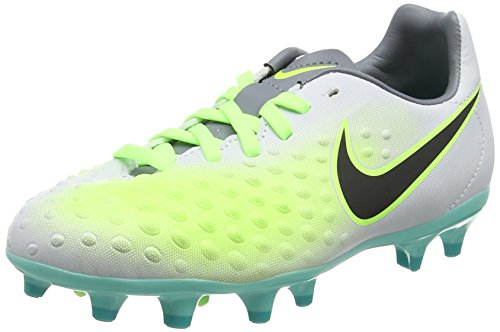 Nike Junior Magista Opus II FG Football Boots 844415 Soccer Cleats (5 Big Kid M, Pure Platinum Black Ghost Green 003)