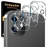 [3 Pack] UnqiueMe Panzerglas Kamera Kompatibel mit iPhone 12 (6.1 Zoll) 5G Kamera Schutzfolie Linse,...