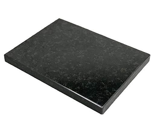 Naturstein Nero Assoluto 4cm Entkopplungsplatte Lautsprecherplatte Pizzabackstein Absorber (40x30x4cm)
