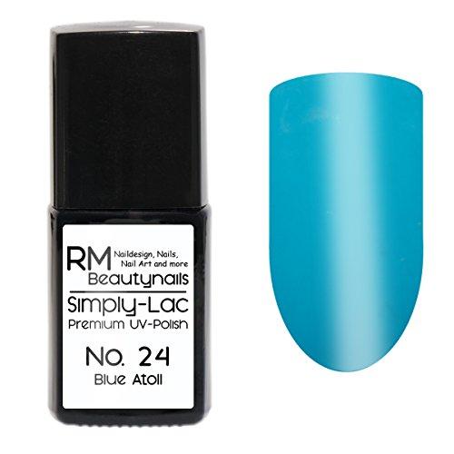 Simply-Lac Vernis à ongles UV de qualité supérieure n° 24 Blue Atoll Bleu clair 10 ml
