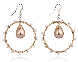 Gold Plated Brass Earrings on Amazon-Click the Picture to Check Price