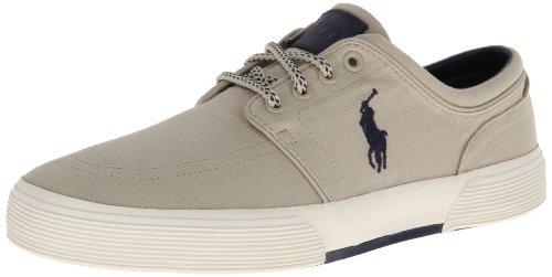 Polo Ralph Lauren Men's Faxon SK VLC Sneaker,Classic Stone,9.5 D US