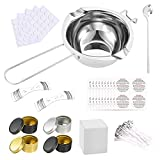 Candle Making Kit, DIY Candles Craft Tools, Candle Making Pouring Pot, Candle Wicks, Candle Wicks Sticker, 3-Hole Candle Wicks Holder, Candles Tins, Candle Warning Labels, and More