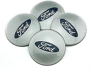 HYFML 4pcs 65mm Car Accessories Emblem Badge Sticker Wheel Hub Caps Centre Cover For Ford Focus 2 Focus 3 FIESTA F-150 Kuga FUSION ESCAPE EDGE