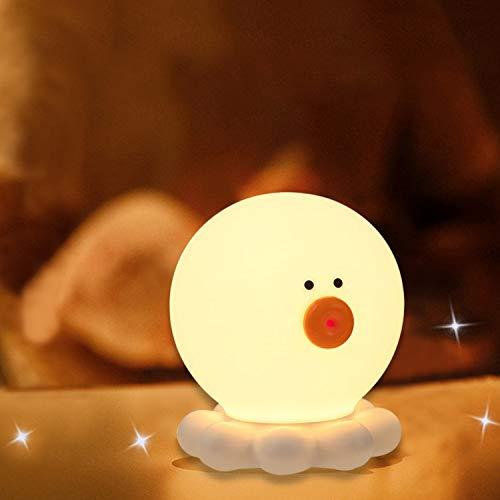 ベッドサイドランプ ナイトライト 授乳ランプ タコ型 USB充電 タッチ式 テーブルランプ 三段階調光 七色変換 雰囲気作り ledライト かわいい 人気 プレゼント