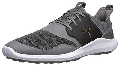 Puma Golf Men's Ignite Nxt Lace Golf Shoe, Quiet Shade-Puma Team Gold-Puma Black, 11 M US