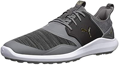 Puma Golf Men's Ignite Nxt Lace Golf Shoe, Quiet Shade-Puma Team Gold-Puma Black, 10.5 M US