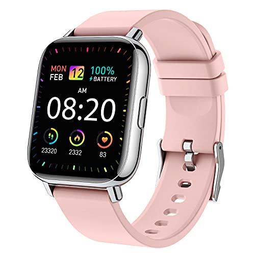 Donerton Smartwatch,1.69' Reloj Inteligente Mujer 24 Modos Deportivo Reloj Mujer Pulsera Actividad Inteligente con Pulsómetro Monitor de Sueño Monitores Calorías Podómetro IP67 para Android e iOS Rosa