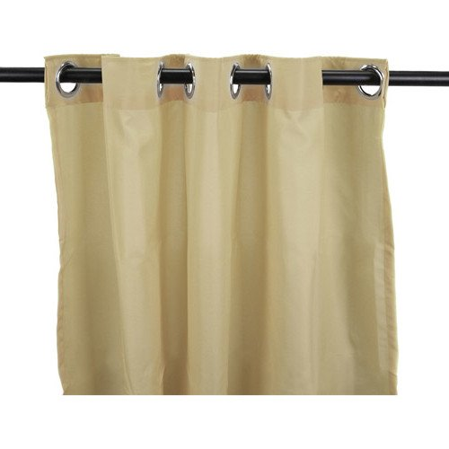 1 pieza 96 pulgadas al aire libre Gazebo de color sólido color caqui cortina, marrón exterior ventana tratamiento solo Panel, Patio porche Cubierta de Puerta de entrada puerta Arandela para pérgola de
