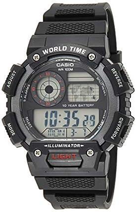 Casio Reloj Digital para Hombre de Cuarzo con Correa en Resina AE-1400WH-1AVEF