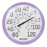 Taylor Precision Products 6700LC Big & Bold Wall Thermometer, Lilac