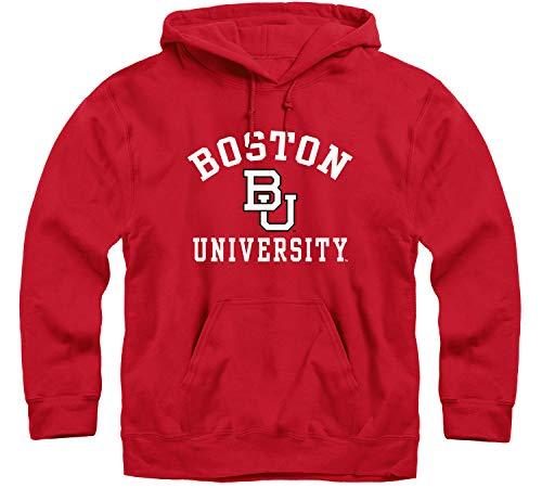 Ivysport Boston University Terriers Hooded Sweatshirt, Heritage, Red, Small