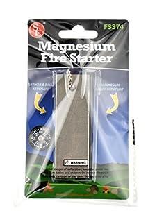 شراء SE FS374 All-Weather Emergency 2-IN-1 Fire Starter and Magnesium Fuel Bar, Flint and Steel Kit