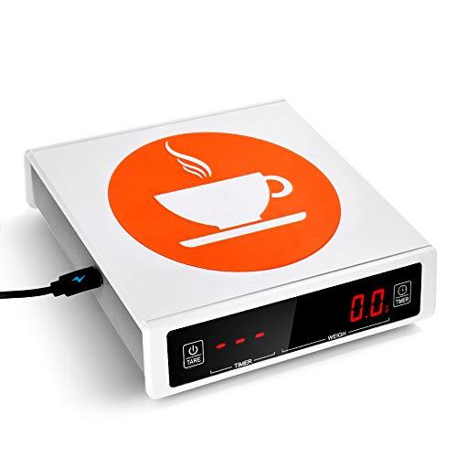 Casai Báscula Digital de café con Temporizador, báscula eléctrica de pesaje de...